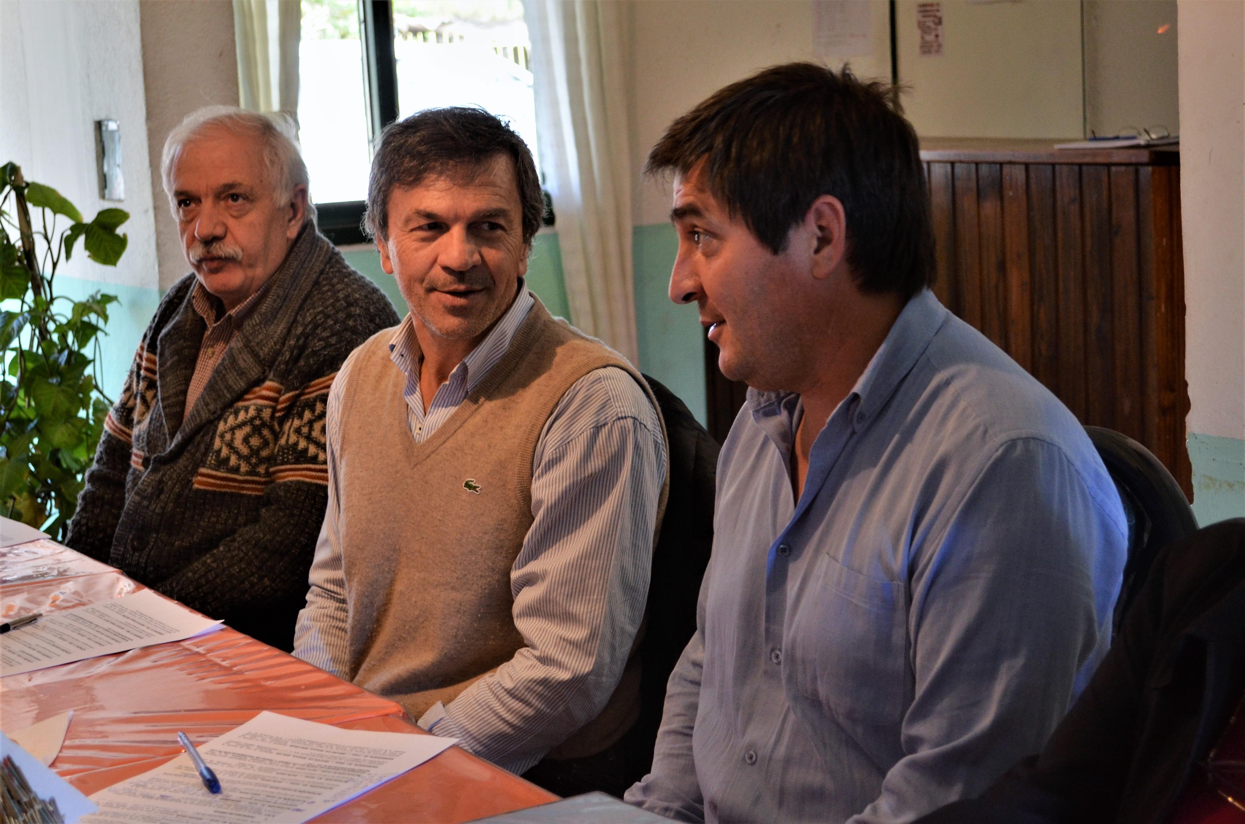 Edgardo Sapag, Juan Carlos Schenk y Paulo Martín Gonzalez, Intendente de Tricao Malal